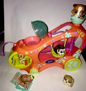 LOT PETSHOP Pet Shop : Véhicule Voiture + 5 Figurines TBE