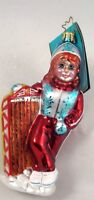 Radko Snow Day Darling cute Girl & Sled Winter Sports Ornament NEW made Poland