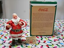 Coca Cola Santa Figurine with Letter & Coke Bottle 1989 Willitts Galeries Fabric
