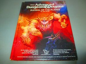 AD&D MANUAL OF THE PLANES Grubb TSR2022 Advanced Dungeons & Dragons 1st Ed Print