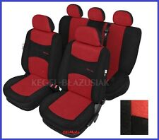 Red/Black Sport Line Tailored Full Set Seat Car Covers for VW  Golf Mk5