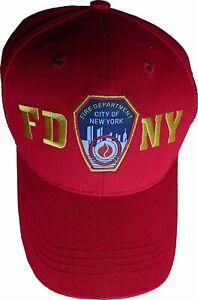 FDNY Men's Baseball Hat Officially Licensed Caps Fire Dept New York City