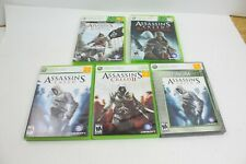 Assassin's Creed Xbox 360 game lot III IV II Black Flag Revelations collection