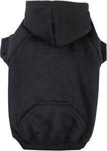 Zack & Zoey Basic Hoodie for Dogs, Black, Size Medium
