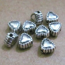 40pc Charms Small peach heart Spacer Beads Findings Retro Tibetan Silver S573T