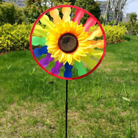 Yard Garden Outdoor Decor Sunflower Windmill Whirling Wind Spinners Kids Toy JM#
