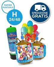 KIT BOMBOLA GAS ELIO per 25,35,50,75,100 palloncini COMPRESI Festa Compleanno