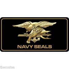 NAVY SEAL TRIDENT LOGO MILITARY  CAR  LICENSE PLATE