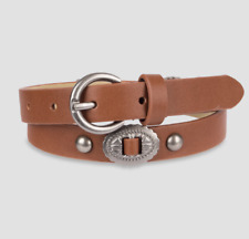 (Large) Girl Child- 33 Inch- Brown Belt Silver Embellishments Cute Target Brand