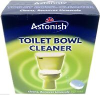 Astonish Toilet Cleaner Tablets Power Cleans Deodorise Removes Limescale Calcium