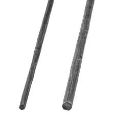 Rundstab Entrindet Gehämmert Ø12-Ø16 mm Stahl  Kunstschmiede Gartenzaun 1100 mm
