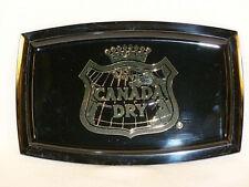 Vintage Canada Dry Black Plastic Bar Tip Tray or Dresser Top Holder - NOS