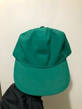 Vintage 90s Eddie Bauer Green Nylon Gore Tex Strapback Hat Cap Made In USA