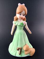 Collector Hallmark Enesco Porcelain Growing Up Girl Fig 00006000 urine Age 7 (E18)