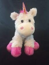 New Rainbow Unicorn Plush Stuffed Animal The Petting Zoo White Pink 12 Inch NWT
