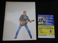 George Michael 1988 Japan Tour Book w Promo Flyer Wham ! Faith Concert Program
