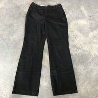 Banana Republic Camden Black Wool Womens Dress Stretch Trouser Pants BX L SZ 12