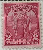 Scott#: 717 - Boy and Girl Planting Tree - Arbor Day MNH OG