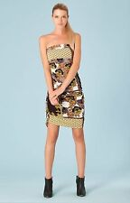 Hale Bob Floral Printed Strapless Bodycon Summer Dress S NWT 3CHN6193 *