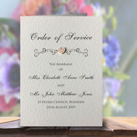10 Order of Service Booklets Handmade and Personalised Free P&P