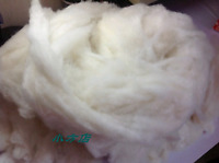 Mongolia Baby Sheep Wool Fiber Fibre Carded Roving Spinning White FREE SHIPPING