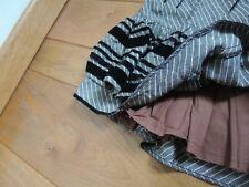 Jupe grise, noire, black, grey skirt CHINE, Luc Duchêne !esprit chic,romantique