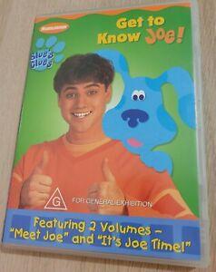 Nickelodeon Blue's Clues Get To Know Joe DVD Region 4 PAL *RARE OOP*