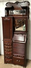 1890's Mahogany Harvard Dental / Medical Cabinet With 15 swing out trays