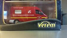 Verem Renault Master Sapeurs Pompiers Support Ambulance Van,1:50,Die-cast-NIB