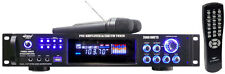 PWMA2003T 2000 Watts Hybrid Pre-Amplifier W/AM-FM Tuner/USB/Dual Wireless Mic