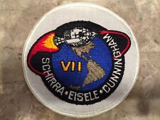 Apollo VII Mission Patch Schirra Eiselle Cunningham Texas Art Embroidery Rare NM