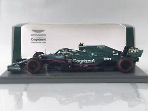 Spark S7672 Aston Martin AMR21 Sebastian Vettel #5 Bahrain GP F1 2021 1:43