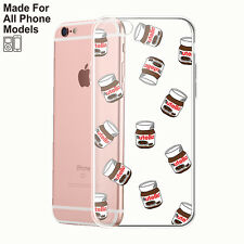 Nutella TPU Phone Case for iPhone 8 8+ 7 7s 6 6s Plus 5 Galaxy S8 S7 edge Note 8