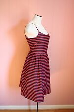 JCrew Factory Stripe Linen-Cotton Sundress 0 Navy Red Summer Dress $89.50 msrp