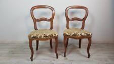 Coppia di sedie antiche in noce massello metà 1800 Sec. XIX Luigi Filippo AFFARE