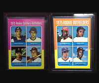 1975 Topps - Fred Lynn and Gary Carter Rookie Baseball Cards- Original Ungraded