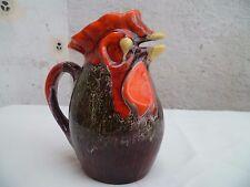 Ancien pichet coq céramique de Vallauris Vintage 1970
