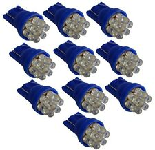 10x ampoule T10 W5W 12V 7LED bleu veilleuses éclairage intérieur seuils de porte