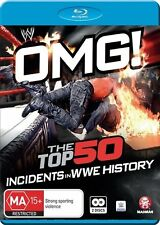 WWE - Omg! The Top 50 Incidents In WWE History (Blu-ray, 2016, 2-Disc Set)