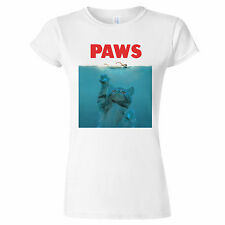 Paws Jaws Spoof Funny Parody Womens T Shirt