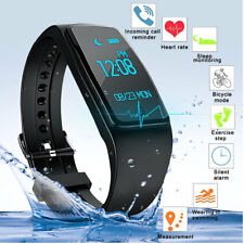 IP67 Pulsera Inteligente Smart Band Monitor Ritmo Cardiaco Para Android IOS