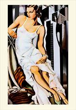Lempicka # 10 cm 70x100 con Passepartout Poster su Carta Fotografica Opaca Matt