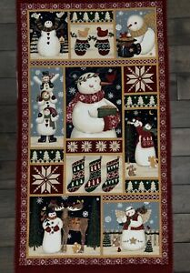 WARM & WOOLY WINTER Quilting Panel Deb Stain Moda#19015 Christmas Snowman Winter