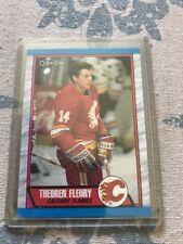 Theoren Fleury 1989-90 O-Pee-Chee Rookie Hockey Card #232 Calgary Flames