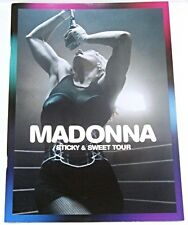 MADONNA STICKY & SWEET 08 TOUR OFFICIAL LIVE PROGRAMME CONCERT PROGRAM