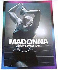 MADONNA STICKY & SWEET 08 TOUR OFFICIAL LIVE PROGRAMME CONCERT PROGRAM
