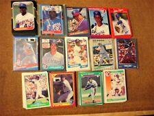 Lot of (14) Complete Texas Rangers Baseball Team Sets-1986-1992