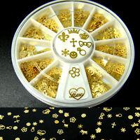 360PCS Golden Mixed Pattern Design Nail Art DIY Glitters Metal Slice Decoration