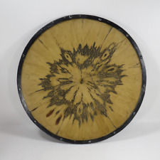 "Large Austin Kinder Collection Decorative Wood Charger Plate Dish 21"" Diameter"
