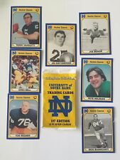 Norte Dame Player Trading Cards 1st Edition Sealed Pack +7 More Football Cards